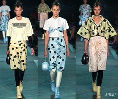 Seems like the lite fabric with uneven polka dots are the new Marc by Marc Jacobs Sp2015 Look  what do you guys think?  inspire through fashion  ¡nspirfación