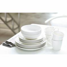 Costco Gordon Ramsay® Maze Stoneware® 16-pc Dinnerware Set  sc 1 st  Pinterest & Great Gatherings® Round White 16-Piece Dinnerware Set at Big Lots ...