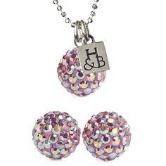 Light Pink Sparkle Earrings and Necklace Set – Hillberg & Berk Christmas Bulbs, Christmas Ideas, Necklace Set, Sparkle, Holiday Decor, Earrings, Pink, Stuff To Buy, Balls