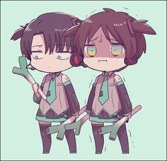 Shingeki no Kyojin - Levi and Eren - Funny cosplay v.2