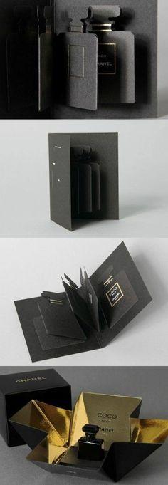 Silver Foil or Mirri Card inside. Chanel Coco noir via Créanog PD Perfume Packaging, Luxury Packaging, Cosmetic Packaging, Brand Packaging, Packaging Design, Branding Design, Packaging Boxes, Identity Branding, Beauty Packaging