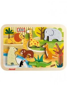 Holz-Puzzle ZOO 7-teilig in bunt