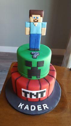 MineCraft Steve Cake by Trina Tru