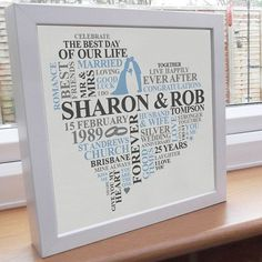 25th wedding anniversary gift ideas - Google Search