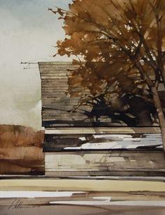 "Joseph Alleman || Revealed 2008, Watercolor  16"" x 12"""