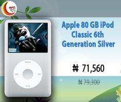 #AppleiPodclassic 6th Generation Silver puts your entire music and video collection in your pocket with 80 GB of storage . #Buyonline at http://www.blessingcomputers.com/products/FRNGPRBBWB-Apple-80-GB-iPod-Classic-6th-Generation-Silver.html