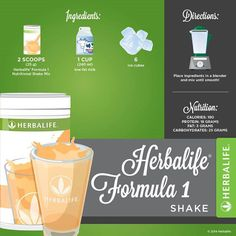 The website of Independent Herbalife Nutrition Associate D. Herbalife Nutrition Facts, Nutrition Shakes, Healthy Shakes, Healthy Eats, Healthy Life, Formula 1 Herbalife, Herbalife Shake Recipes, Herbalife Products, Nutritional Shake Mix