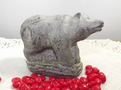 the-wolf-original-soapstone-sculpture-bear-figurine-paperweight-hand-made-in-canada-the-wolf-sculptures-signed-we-carving/ - The world's most private search engine Vintage Decor, Vintage Items, Vintage Style, Wolf Sculpture, Cupboard Storage, Soapstone, Paper Weights, Candle Holders, Sculptures