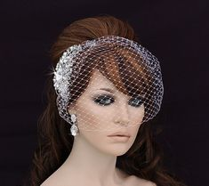 Bird Cage Veil Blusher Birdcage Veil and Comb by EleganceByKate