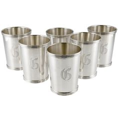 Six Sterling Silver Mint Julep Cups | From a unique collection of antique and modern barware at http://www.1stdibs.com/furniture/dining-entertaining/barware/