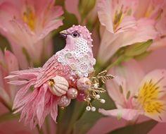 Miniature handmade brooch 'Bird'  Julia Gorina