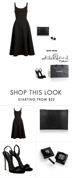 """Vogue girl"" by djulia-tarasova ❤ liked on Polyvore featuring Victoria Beckham, Giuseppe Zanotti, Chanel and Givenchy"