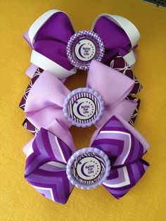 diy relay for life bows | Relay for Life hair bow by Lilysbowsandsuch on Etsy