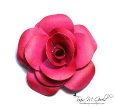 Paper Flower Tutorial by Tania Gould - very well set out and easy to follow. :)