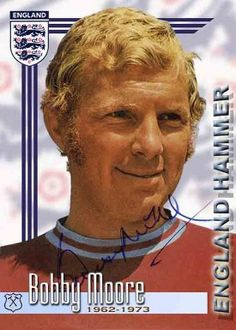 Bobby Moore of West Ham in Football Squads, Football Icon, Uk Football, England Football, Football Cards, Football Stickers, Jimmy Greaves, West Ham United Fc, Bobby Moore