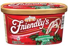 Friendly's Peppermint Stick ice cream