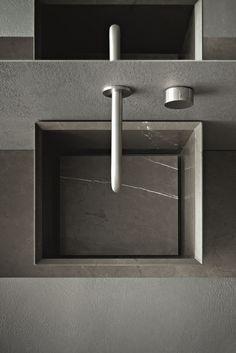Bathroom furniture in wood CRAFT - COMPOSITION N01 by Novello design Stefano Cavazzana