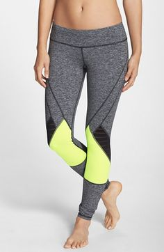 Pink Lotus Colorblock Leggings available at Dance Outfits, Sport Outfits, Cute Outfits, Yoga Fashion, Fitness Fashion, Striped Leggings, Stripe Pants, Women's Fashion Leggings, Workout Attire