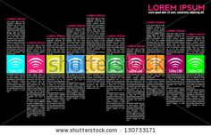 Magazine layout design. Can be used for Top 10 music lists. Designed to look like a equalizer. - stock vector