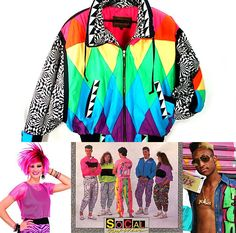 Neon exploded in fashion during the 1980s!