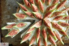 Coconut tart with fresh figs.