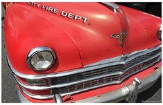 Old City Fire Department Chiefs Car Poster