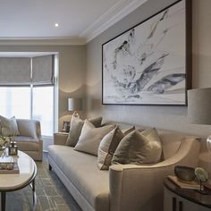 What this room lacks in size it makes up for with luxury... With textured wallpaper, bespoke furniture, glamorous fabrics and lots of gorgeous accessories there are so many layers of luxury and interest in here