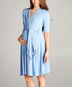 c1f0254736d Hello Miz Maternity Hello Miz Sky Blue Keyhole Maternity Nursing Surplice  Dress