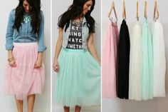 SPRING TULLE SKIRTS - 5 COLORS  Be Perfectly On-Trend In Tulle  STARTING AT    60% OFF