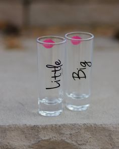 Big Little sister Sorority set of 2 shot glasses by Giftability