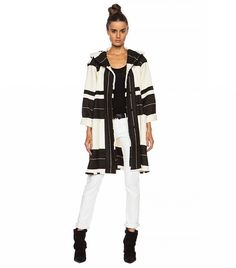 Adil Blanket Wool-Blend Jacket in Ecru