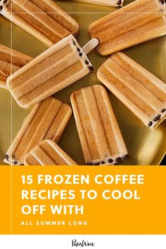 Spice up your daily cup of joe with 15 frozen coffee recipes that'll keep you alert, cool and refreshed all season. #frozen #coffee #recipe Sorbet Ice Cream, Coconut Ice Cream, Healthy Desserts, Easy Desserts, Coffee Popsicles, Ice Cream For Breakfast, Vietnamese Iced Coffee, Caramel Frappuccino, Frozen Coffee