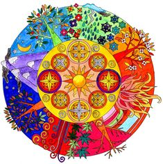 Mandala estaciones y climas by ChatPetit1 on DeviantArt