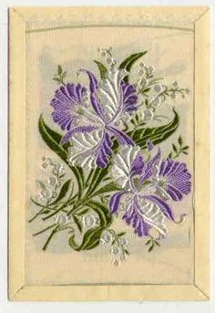embroidered cigarette cards
