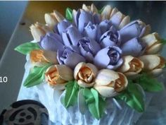 Russian Decorative Nozzle Cream Tulip. www.deconctulip.com Кондитерские насадки тюльпаны и розы - YouTube
