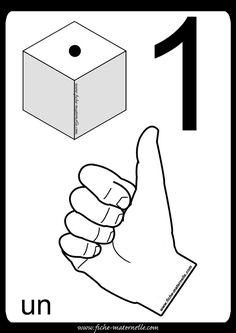 Affichage maternelle : représentation du nombre