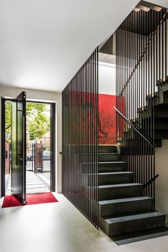 Create a striking staircase design with the inclusion of full-height balustrading Best Picture For Stairs wallpaper For Your Taste You are looking for something, and it is going to tell you exactly wh Home Stairs Design, Interior Stairs, Home Interior Design, Staircase Design Modern, Luxury Staircase, Balcony Design, Roof Design, Design Interiors, Interior Ideas