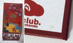 Club Nintendo super mario Hanafuda cards art