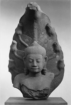 Cambodian Buddha Protected by a Seven-headed Naga from the Angkor period - The Metropolitan Museum of Art Collection