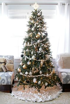 1000 images about the christmas tree farm on - White and black christmas tree ...