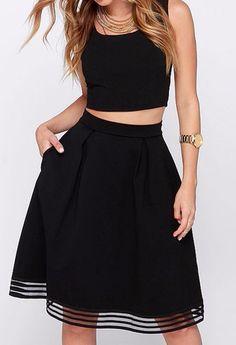 Black #top & #skirt
