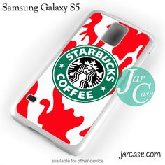 Starbucks Red Camo Cup Phone case for samsung galaxy S3/S4/S5