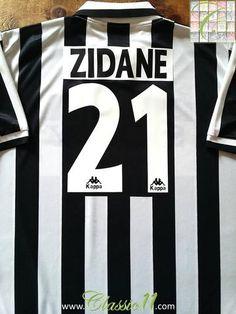 Relive Zinedine Zidane's 1996/1997 season with this original Kappa Juventus home football shirt.