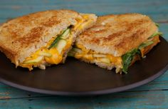 Green Apple & Sharp Cheddar Grilled Cheese // AsAVerb.com