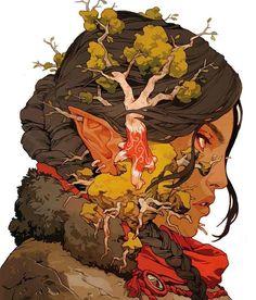 'Dragon Age' illustration by Sachin Teng @sachinteng