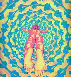 Psychedelic Art Into the Light Poster UV Black Light par MypsyArt Psycadelic Art, Psy Art, Visionary Art, Artsy Fartsy, Art Inspo, Illustration Art, Sketches, Sculpture, Retro