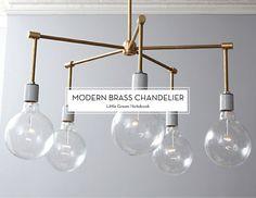 modern-brass-chandelier-Little-Green-Notebook-Design-Crush
