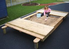 Sandpit with Sliding Lids Water & Sand Play - Activity & Role Play Playground Equipment