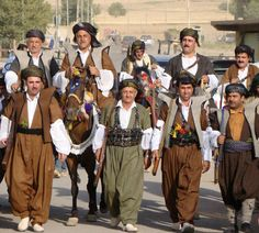 Kurdish Villagers in traditional Clothing.
