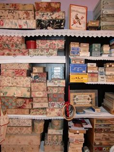 Wonderful collection of boxes and....I wonder what is in the boxes?